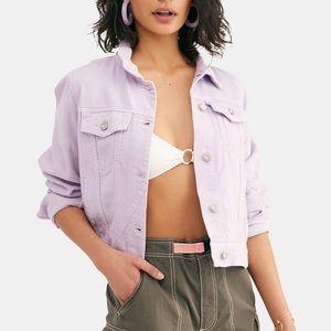 Free People Lilac Rumors Denim Jacket M NWT